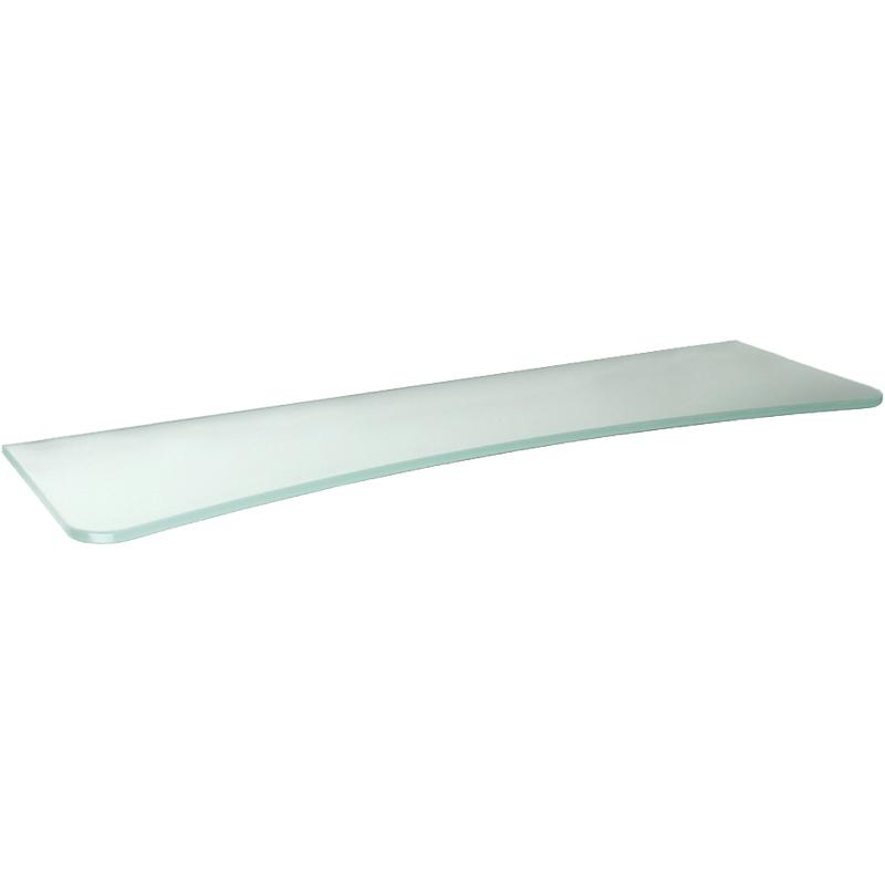 Frosted Concave Glass Shelf 32in X 7in/10in X 5/16in