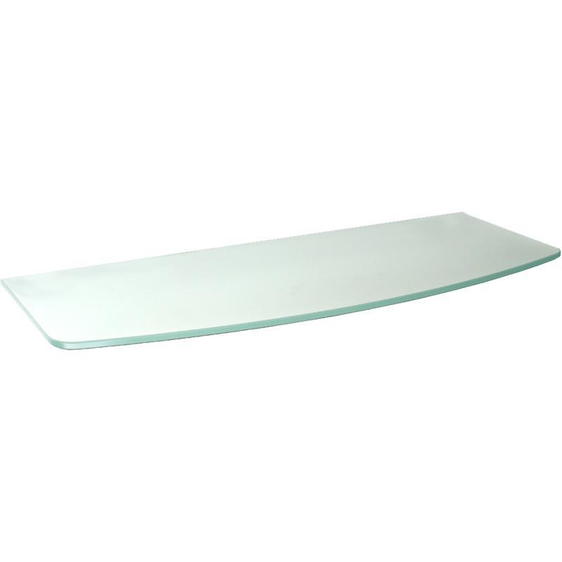 Frosted Convex Glass Shelf 24in X 8in/9in X 5/16in