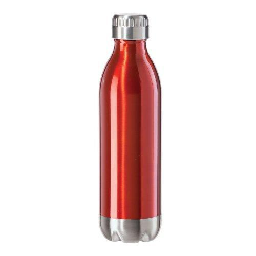 Travel Water Bottle Stainless Steel Sport Calypso Lustre 17oz Red