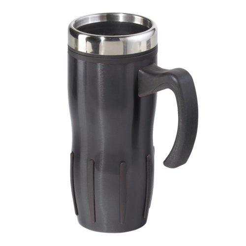 Travel Tumbler Handled-mug Stainless Steel Lustre Multi-grip 16oz Black