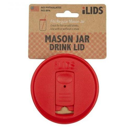 Drinkware Lid Wide-mouth Mason Jar Red
