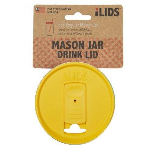 Drinkware Lid Wide-mouth Mason Jar Yellow