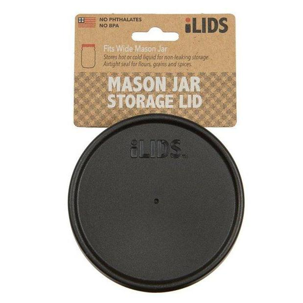 Storage Lid Wide-mouth Mason Jar Red