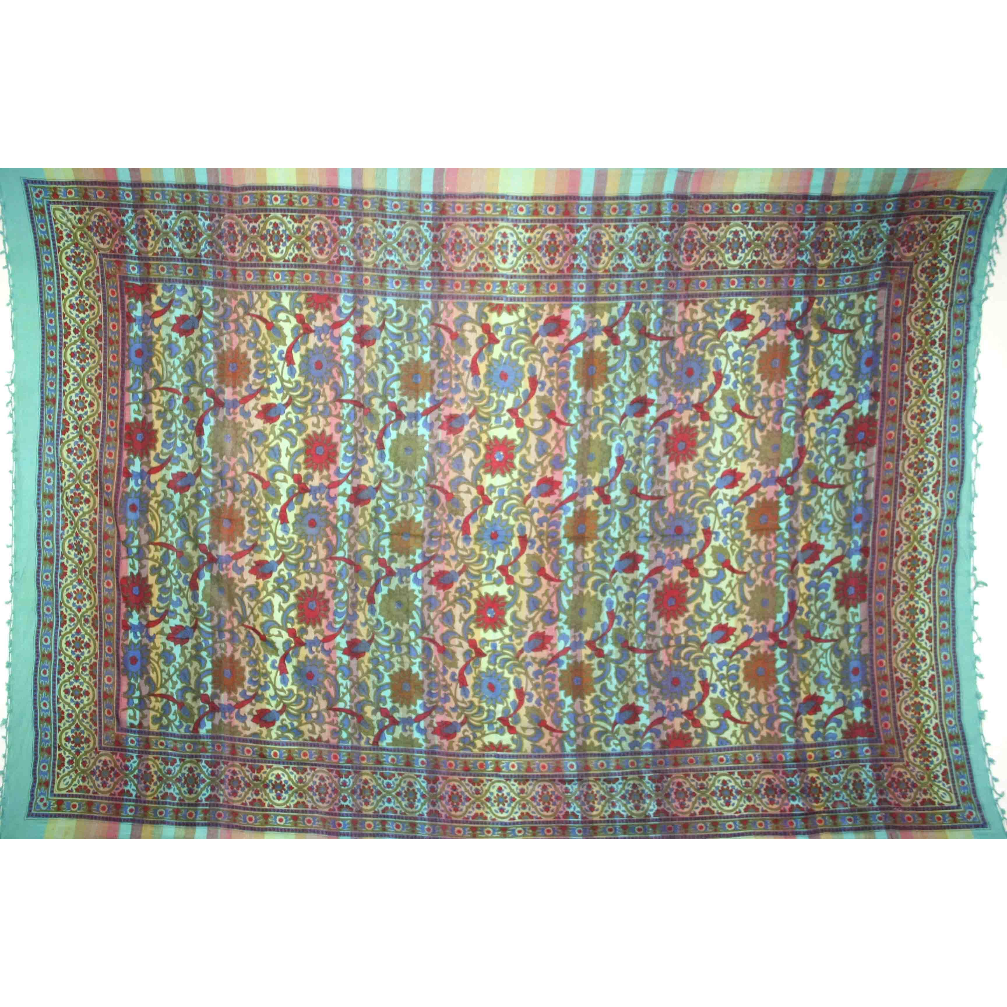 Tapestry Twin Size Overprint Sunflower Green