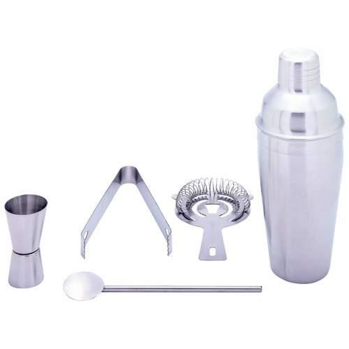 Cocktail Bar Shaker Stainless Steel 5 Piece Mixing Cocktail Making Set