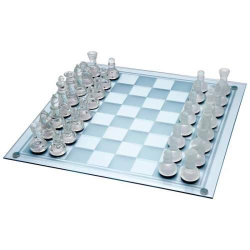 Chess Set Glass 13.75in X 13.75in