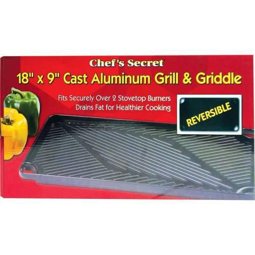 Cookware Grill & Griddle Cast-aluminum Reversible 18in Boxed -(chef\'s Secret)