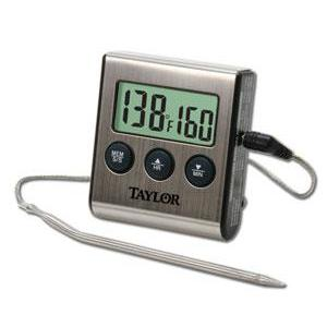 Kitchen Thermometer & Timer Digital Programmable