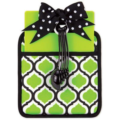 Kitchen Essentials Set- Black & Green