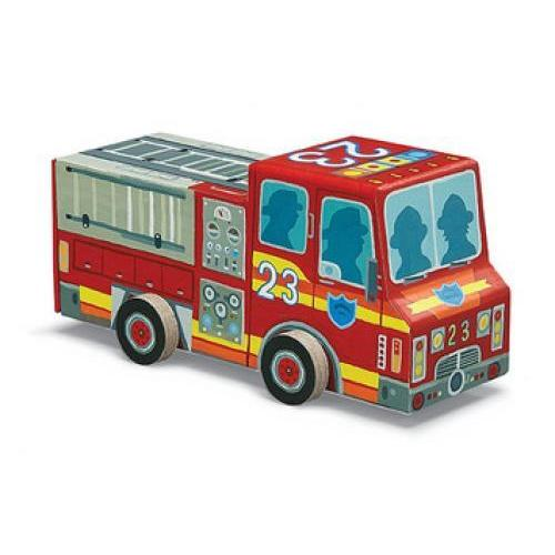Puzzle 48pc Vehicle Fire Truck