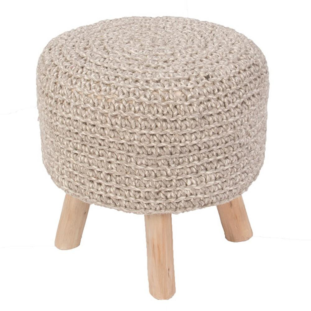 Pouf Westport By Rug Republic Pumice Stone 16in X 16in X 16in