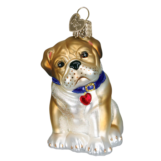 Christmas Ornament Dog Bull Pup