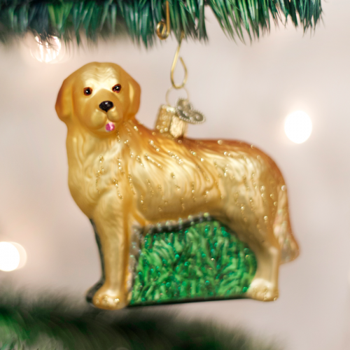 Christmas Ornament Dog Golden Retreiver