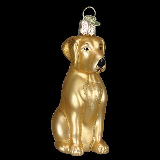 Christmas Ornament Dog Yellow Lab