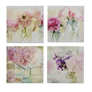 Canvas Print Flower Design (each Piece Sold Separately)