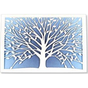 Boxed Card Blank Laser Cut Tree Of Life