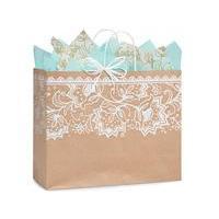 Gift Bag Large Vogue Lace Kraft Paper