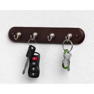 Key Rack Walnut 4-hook