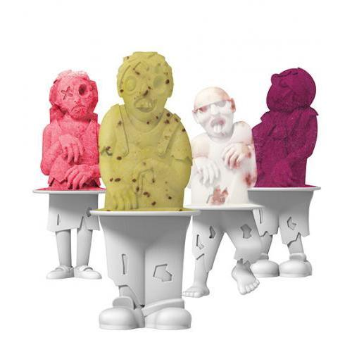 Ice Pop Mold Zombie 4 Piece Set