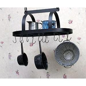Pot Rack Hanging Oval With 12 Hooks