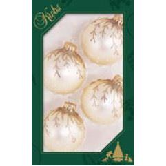 Christmas Balls Vanilla Ice With Hanging Branches