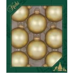 Glass Christmas Balls Harvest Gold