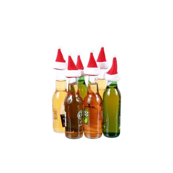 Christmas - Bottle Topper - Santa Hat 6 Pack Decor