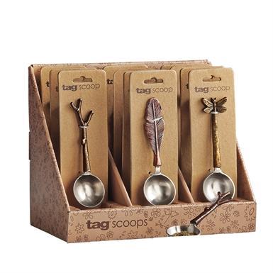 Coffee Spoon Scoop 1tbsp Twig Or Leaf Or Dragonfly ( Sold Separately )