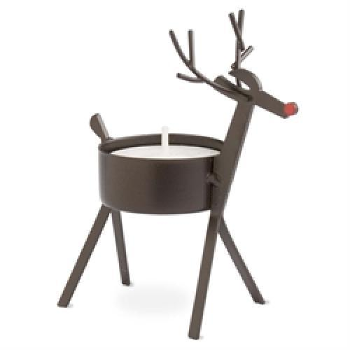 Seasonal Tealight Holder Bronze Reindeer