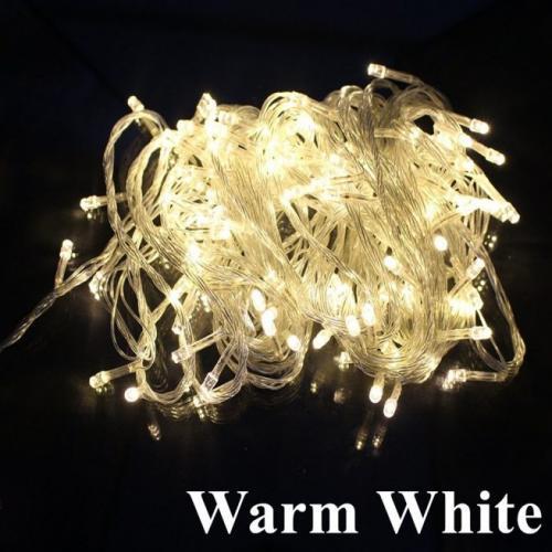 String Light 100 Led  Plug Warm White