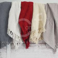 Throw Blanket Woven Gray 50in X 60in
