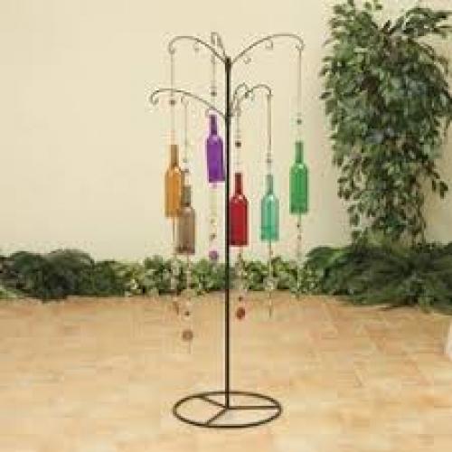Windchime Glass Bottle 39.4in Long 6 Colors
