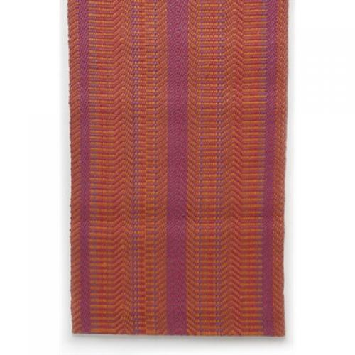Woven Jute Latex Back Rug Pink/ Orange/ Purple 2x7
