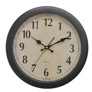 Wall Clock Face-tan Quartz