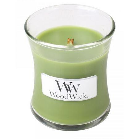 Woodwick Mini Candle Jar Beragmot And Basil 3oz 20 Hour Burn Time