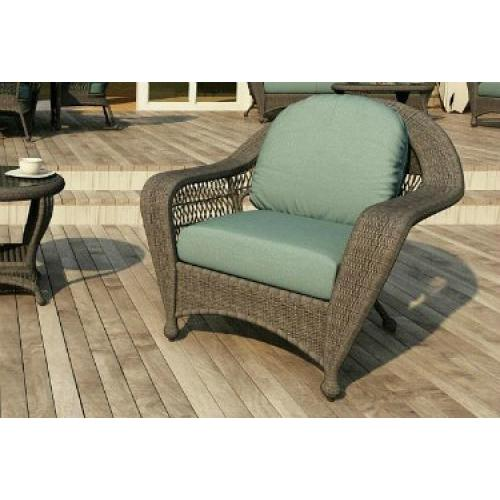 Charleston Outdoor Wicker Lounge Chair Willow