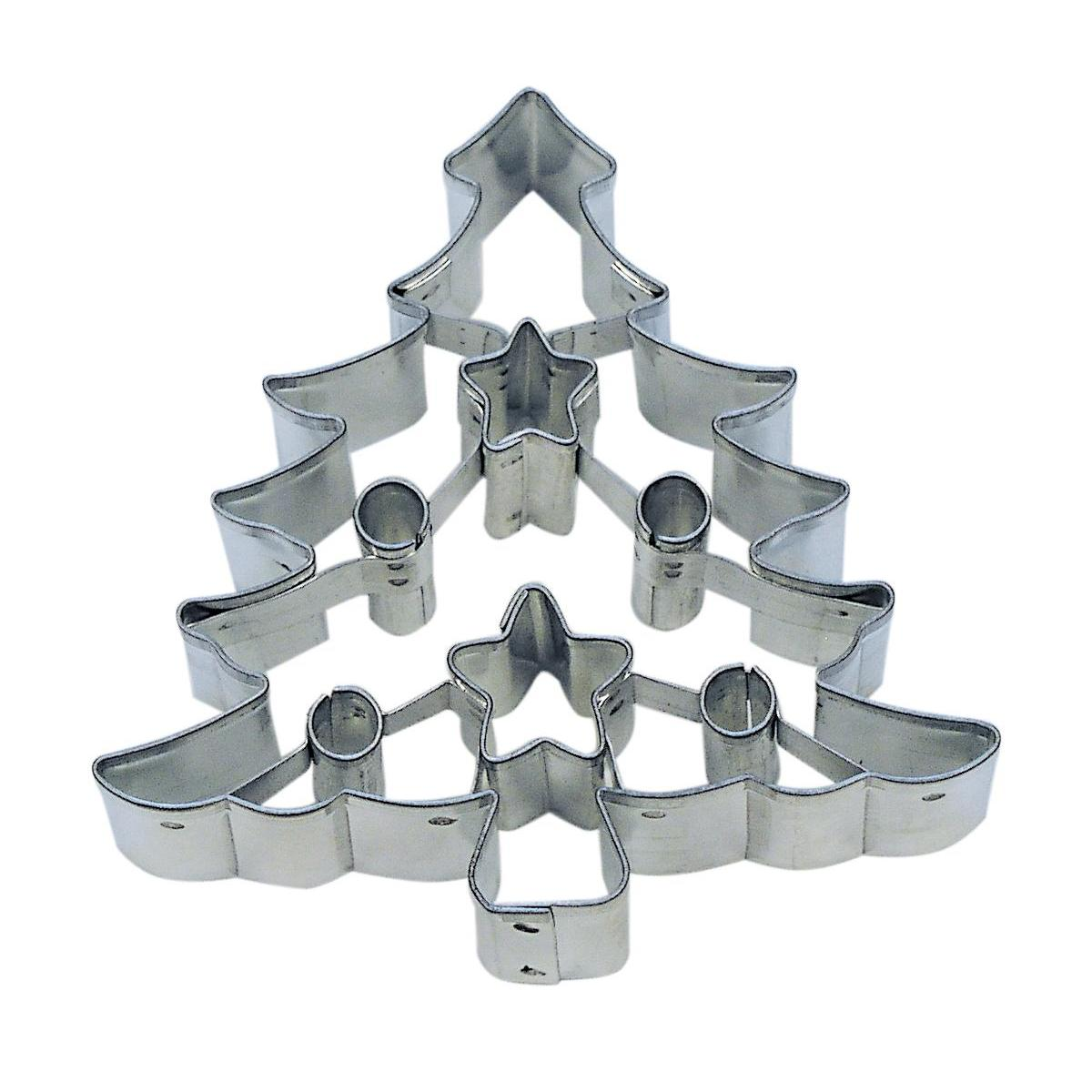Cookie Cutter Seasonal Holiday Fancy Tree 3in