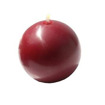 "Ball Candle 2.75"" Burgundy"