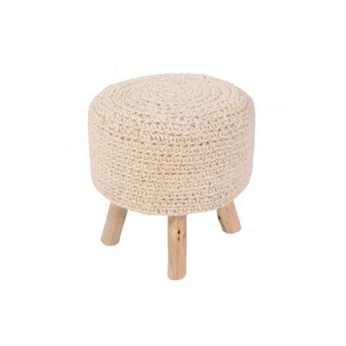 Pouf Westport By Rug Republic Bleached Sand 16in X 16in X 16in