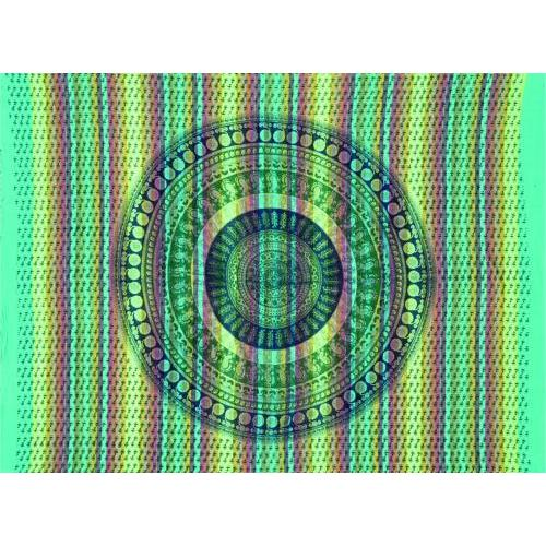 Tapestry Single Size Overprint Bagru Green
