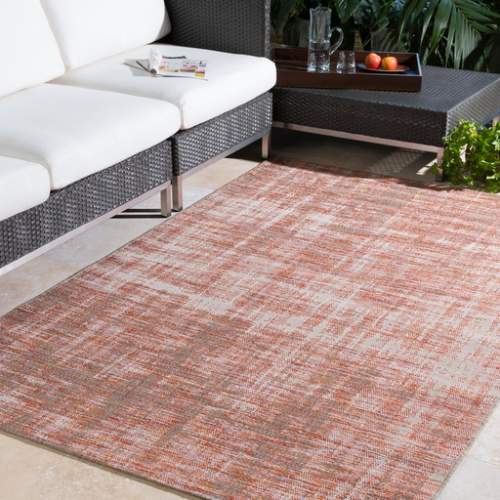 Santa Cruz 5.4 X 7.7 Outdoor Rug Burnt Orange