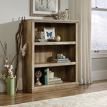 3-shelf Lintel Oak Finish Bookcase