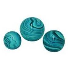 Orbs Glass Teal Set Of 3 Sm 19.99 Med 24.99 Lg 34.99 ( Low Quanity On Small )