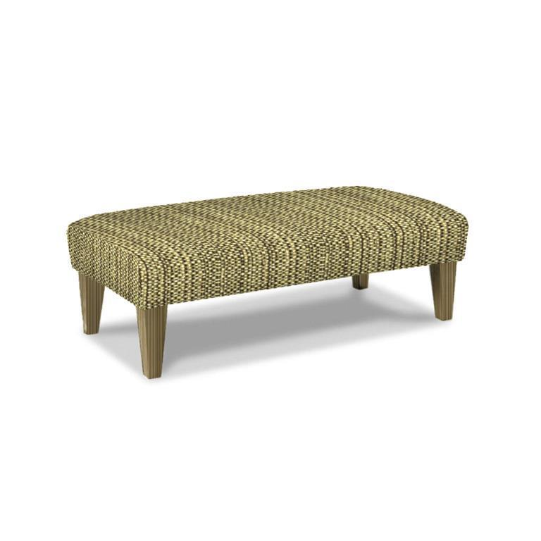 Linette Ottoman Charcoal Fabric Riverloom Feet