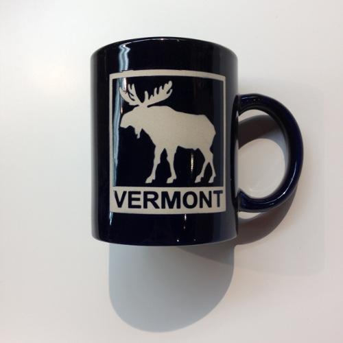 Mug Cobalt Etched Moose