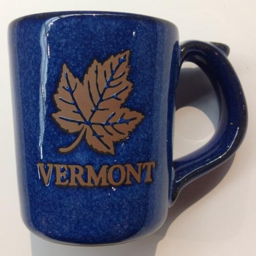 Mug Rustic Blue With Maple Leaf