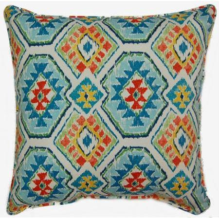 Eresha Bluebird Outdoor Pillow 17in X 17in