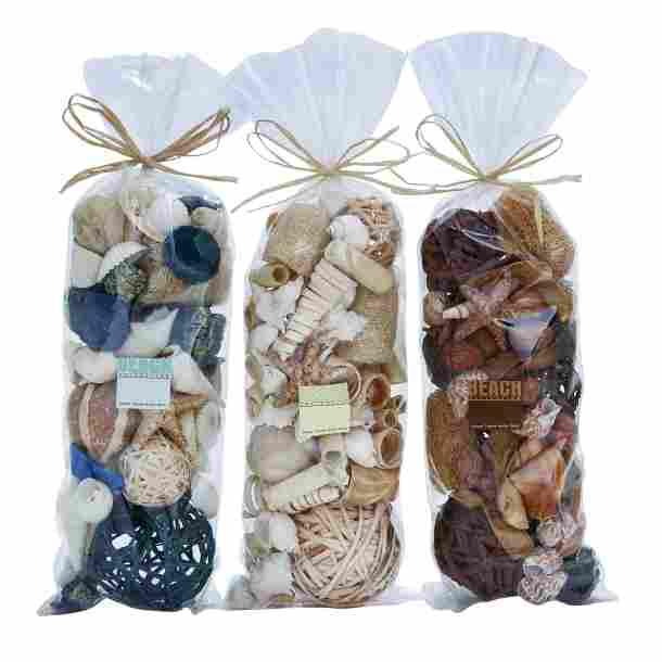 Dried Floral Vase Filler 3 Assorted 5in Wide X 13in High Bag