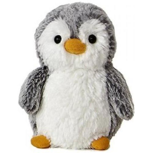 Pom Pom Penguin Grey and White Small 9in