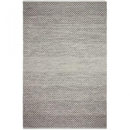 Zen Collection Indoor Aurora Gray Rug 3x5 Flatweave Recycled Cotton